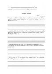 Printables Bridge To Terabithia Worksheets printables bridge to terabithia worksheets safarmediapps english teaching movies activity on the film terabithia
