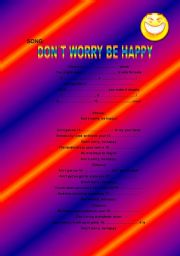 English Worksheets: DON´T WORRY BE HAPPY!