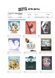 English Worksheet: Movie Genres