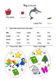 English Worksheet: Big and Small 1