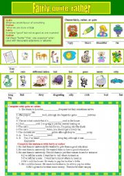 English Worksheets: Fairly, quite and rather