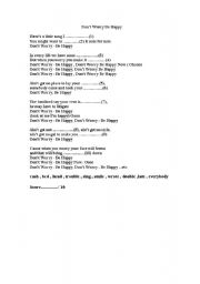 English Worksheets: Don´t Worry Be Happy Song
