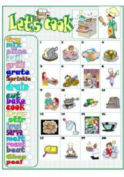 English Worksheets: Let�s cook