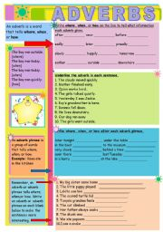 English Worksheets: Adverbs and adverb clauses