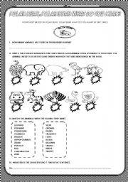 English Worksheets: ( part I) POLAR BEAR, POLAR BEAR WHAT CAN YOU HEAR ? BY E. CARLE