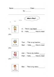 English Worksheets: about my self
