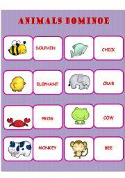 English Worksheets: ANIMAL DOMINOE