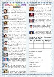 English Worksheets: LEARNING ENGLISH - PERSONAL ACCOUNTS