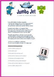 English Worksheets: Jumbo Jet