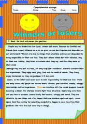 English Worksheets: winners or losers
