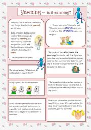 English Worksheets: Yawn -- Is it catching