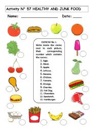 Printables Elementary Health Worksheets english teaching worksheets junk food healthy and food