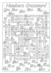 Numbers Crossword. Part II.