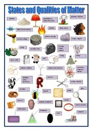 English Worksheet: State and Qualities of Matter