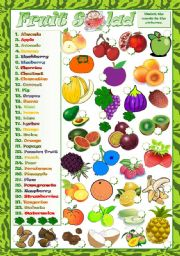 English Worksheet: FRUIT SALAD