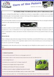 english worksheet cars of the future reading. Black Bedroom Furniture Sets. Home Design Ideas