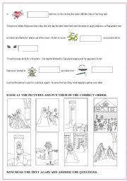 Rapunzel worksheets