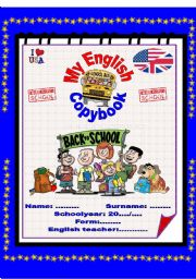 English Worksheets: My english copybook