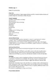 English Worksheets: Common Telephone Phrases