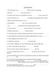 English Worksheet: medicine