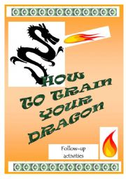 English Worksheets: HOW TO TRAIN YOUR DRAGON - follow-up activities