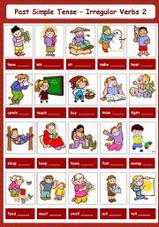 English Worksheet: Past Simple Tense - Irregular Verbs 2-5