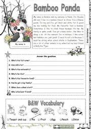 English Worksheets: Bamboo Panda