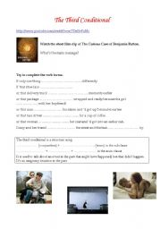 English Worksheets: Third conditional (Benjamin Button)