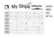 English Worksheet: Battleship-- Asking Questions