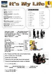 English Worksheet: It´s My Life