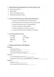 English Worksheets: Resolutions