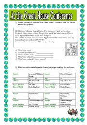 English worksheet: Reading comprehension plus excercises ( key included)