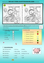 English Worksheets: SPOT THE DIFFERENCES