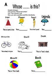 singular possessive nouns worksheet
