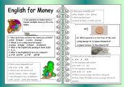 English Worksheet: English For Money