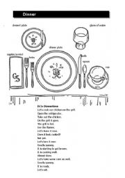 English Worksheets: Dinner table