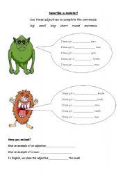 Describe a Monster