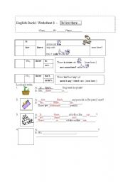 English Worksheets: Is/Are there