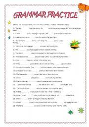 English Worksheets: GRAMMAR PRACTICE