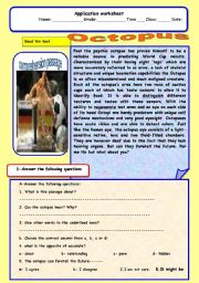 English Worksheets: Paul the octopus
