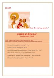 English Worksheet: Gossip