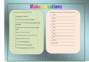 English Worksheets: Make questions