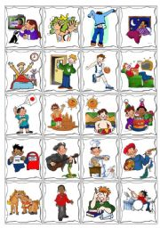 English Worksheet: Daily Routine Cards Game