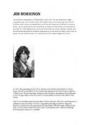 English Worksheets: Jim morrison
