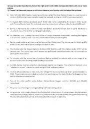 English Worksheets: Banksy chronology part 1 - TEXT
