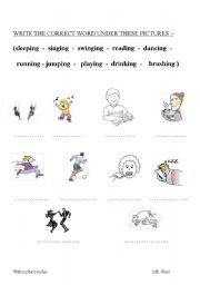 English Worksheets: house - grammer (is -are) action - animals- missing letters