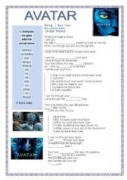 English Worksheet: Avatar Movie theme - I see you -