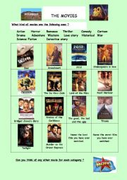 English Worksheets: The movies