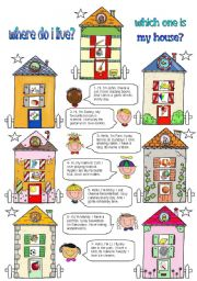 English Worksheets: Which one is my house?