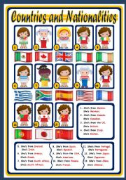 COUNTRIES AND NATIONALITIES - POSTER